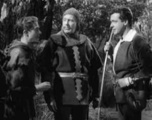 Hunter (center) with Richard Green on TVs Robin Hood